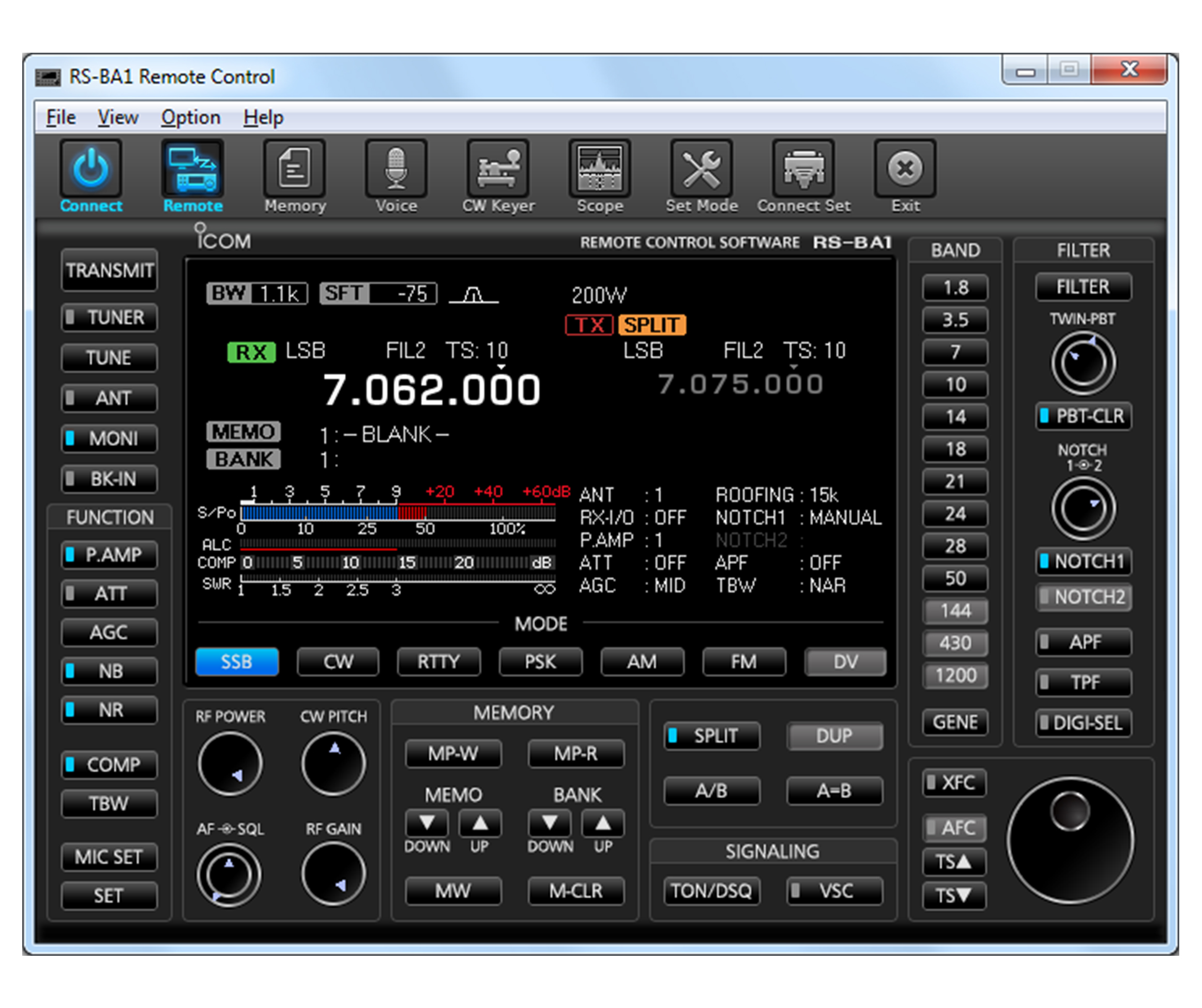 RS-BA1 IP Remote Control Software - Specifications - Icom America
