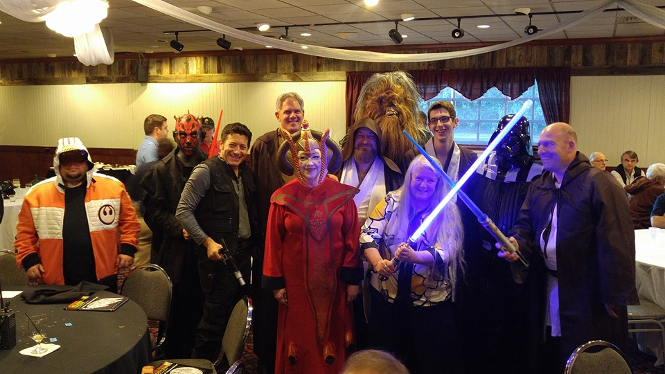 Icom America dealer dinner at Hamvention. Star Wars cosplay