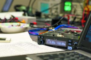 Icom A220 during testing